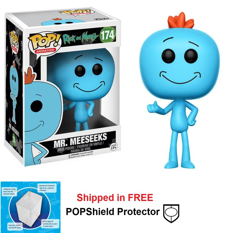 Funko POP Animation Rick and Morty Mr. MeeSeeks Figure - #174