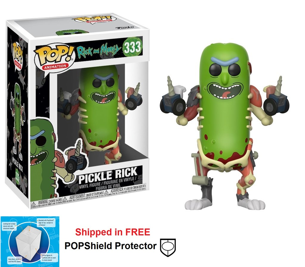 Funko POP Animation Rick and Morty Pickle Rick Figure #333