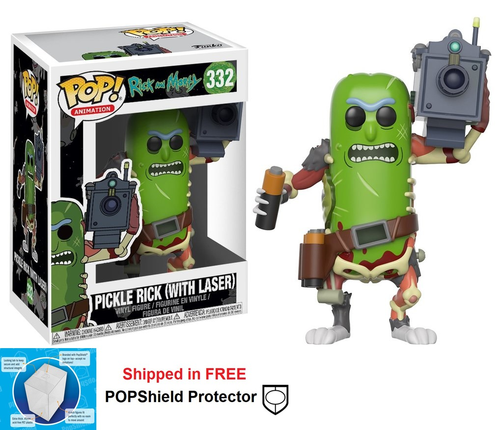 Funko POP Animation Rick and Morty Pickle Rick with Laser - #332