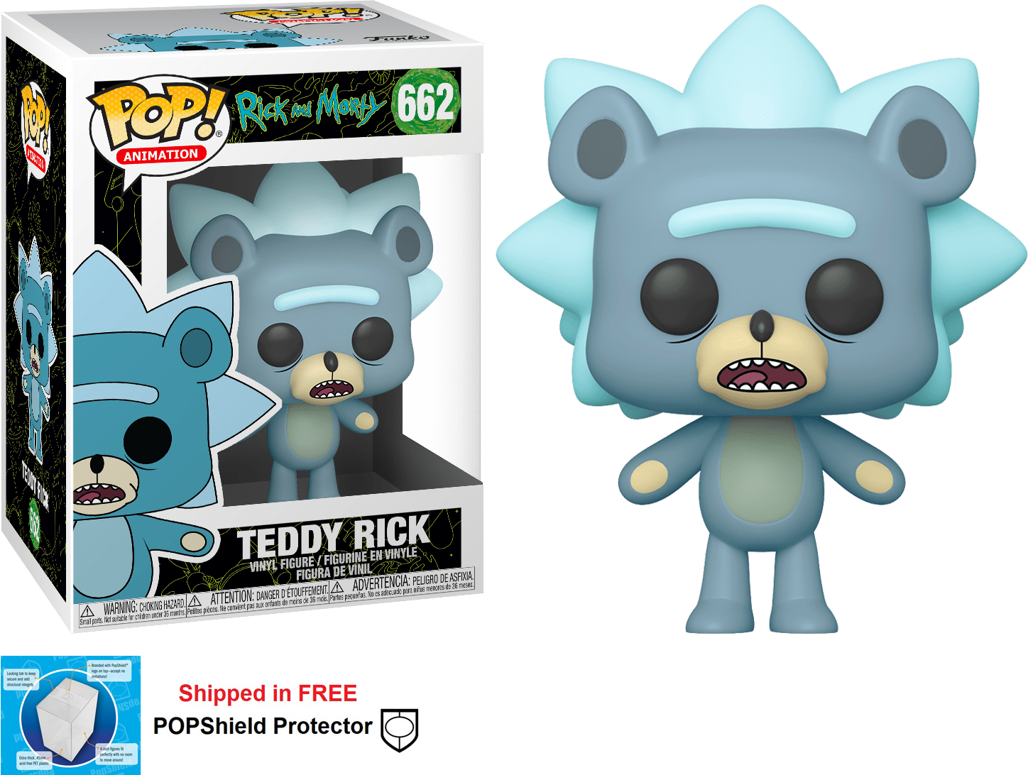 Funko POP Animation Rick and Morty Teddy Rick Figure - #662