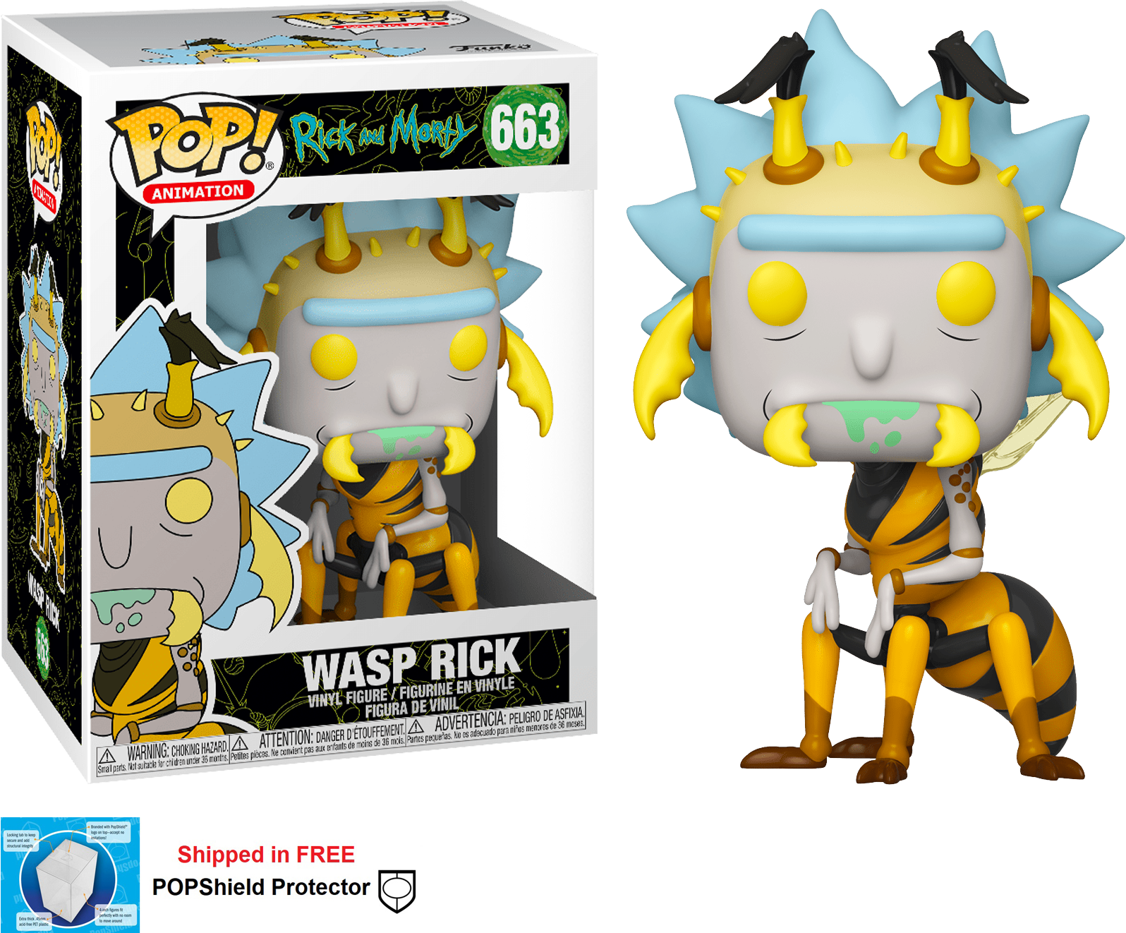 Funko POP Animation Rick and Morty Wasp Rick Figure - #663
