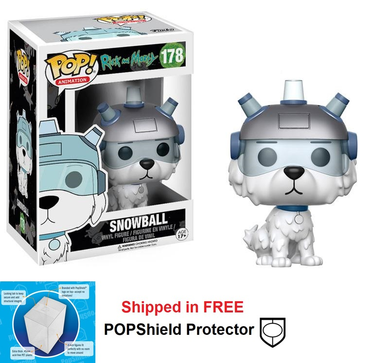 Funko POP Animation Rick and Morty Snowball Figure - #178