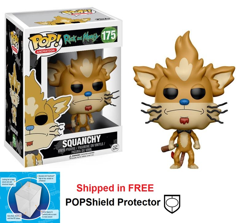 Funko POP Animation Rick and Morty Squanchy Figure - #175