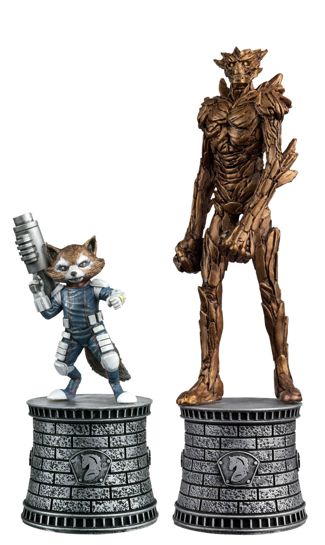 Eaglemoss Marvel Comics Chess Rocket Raccoon & Groot Figurines
