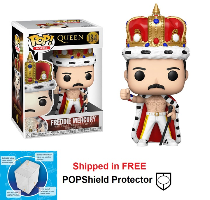 Funko POP Rocks Queen Freddie Mercury King Figure - #184