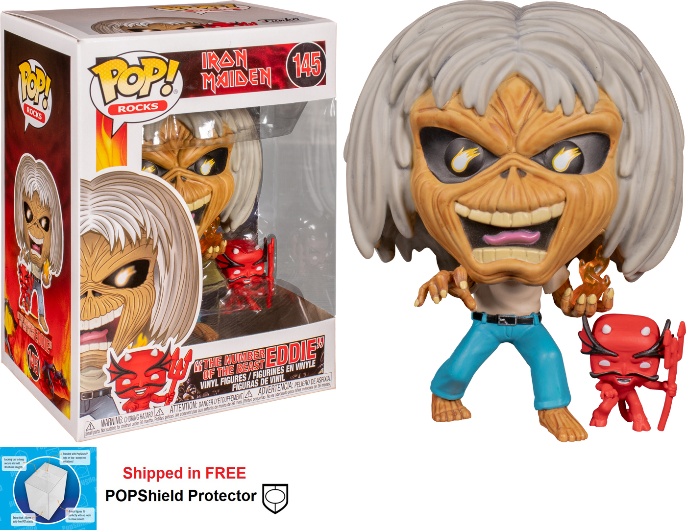 Funko POP Rocks Iron Maiden Number of the Beast Eddie - #145