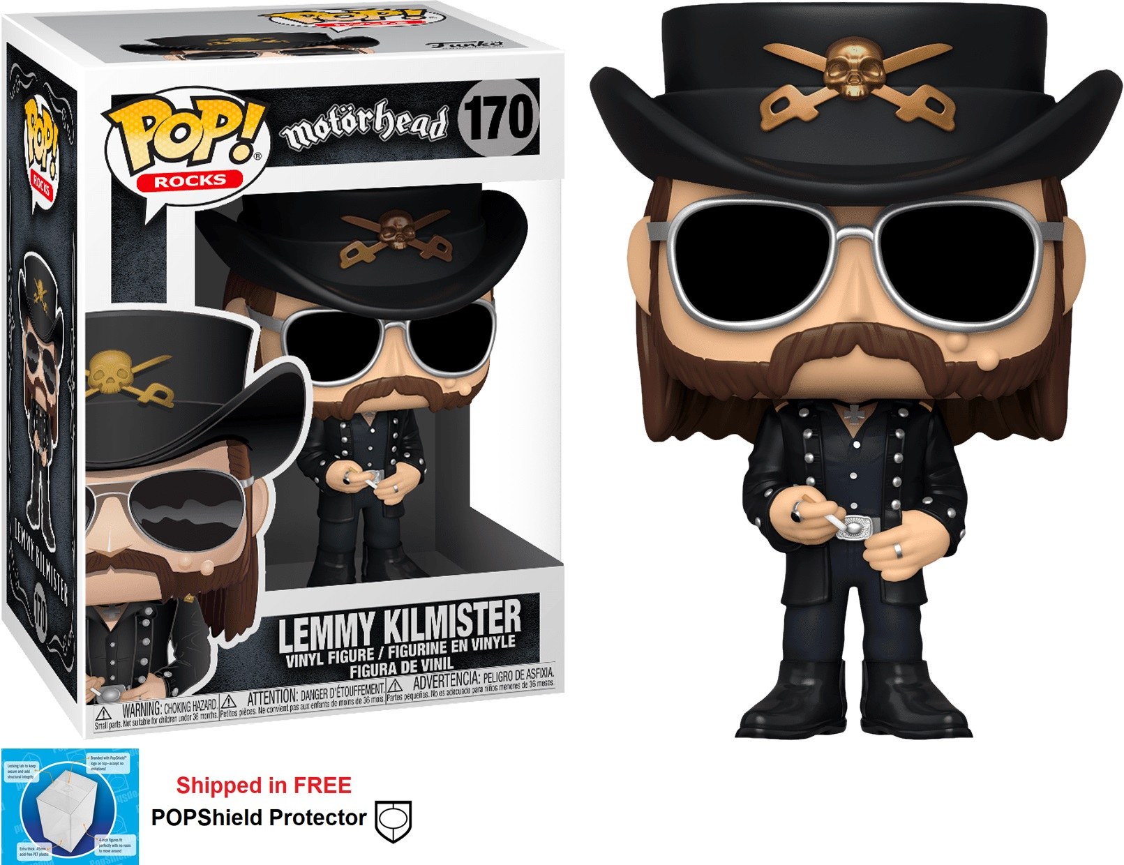 Funko POP Rocks Motorhead Lemmy Kilmister Figure - #170