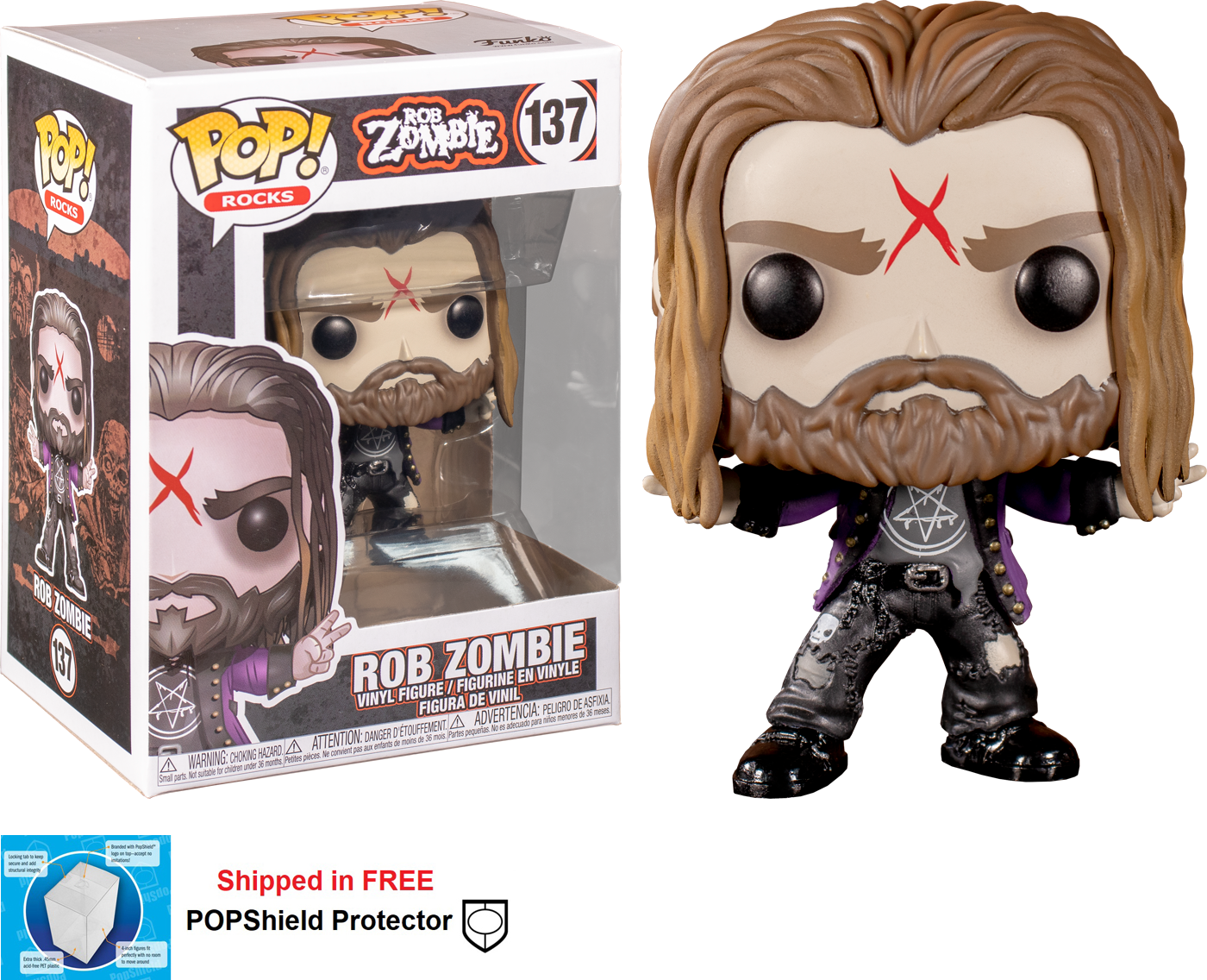 Funko POP Rocks Rob Zombie Figure - #137