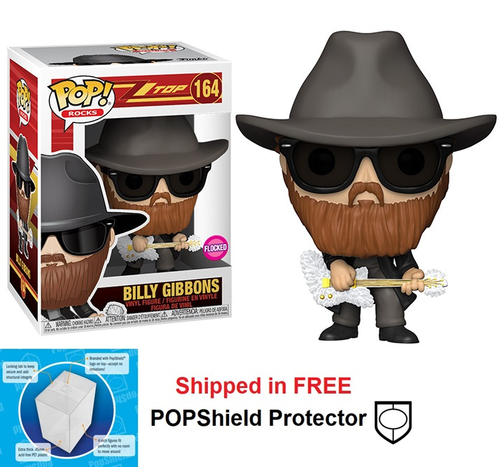 Funko POP Rocks ZZ Top Billy Gibbons Figure - #164