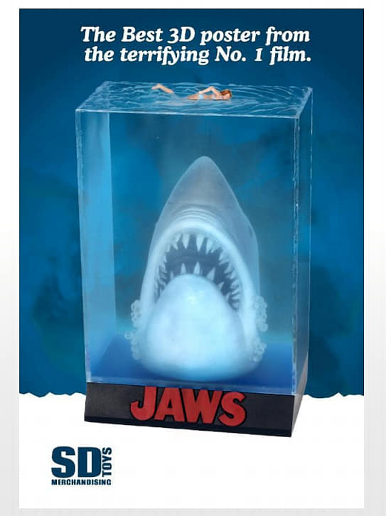 Pre-Order SD Toys Jaws 3D Movie Poster
