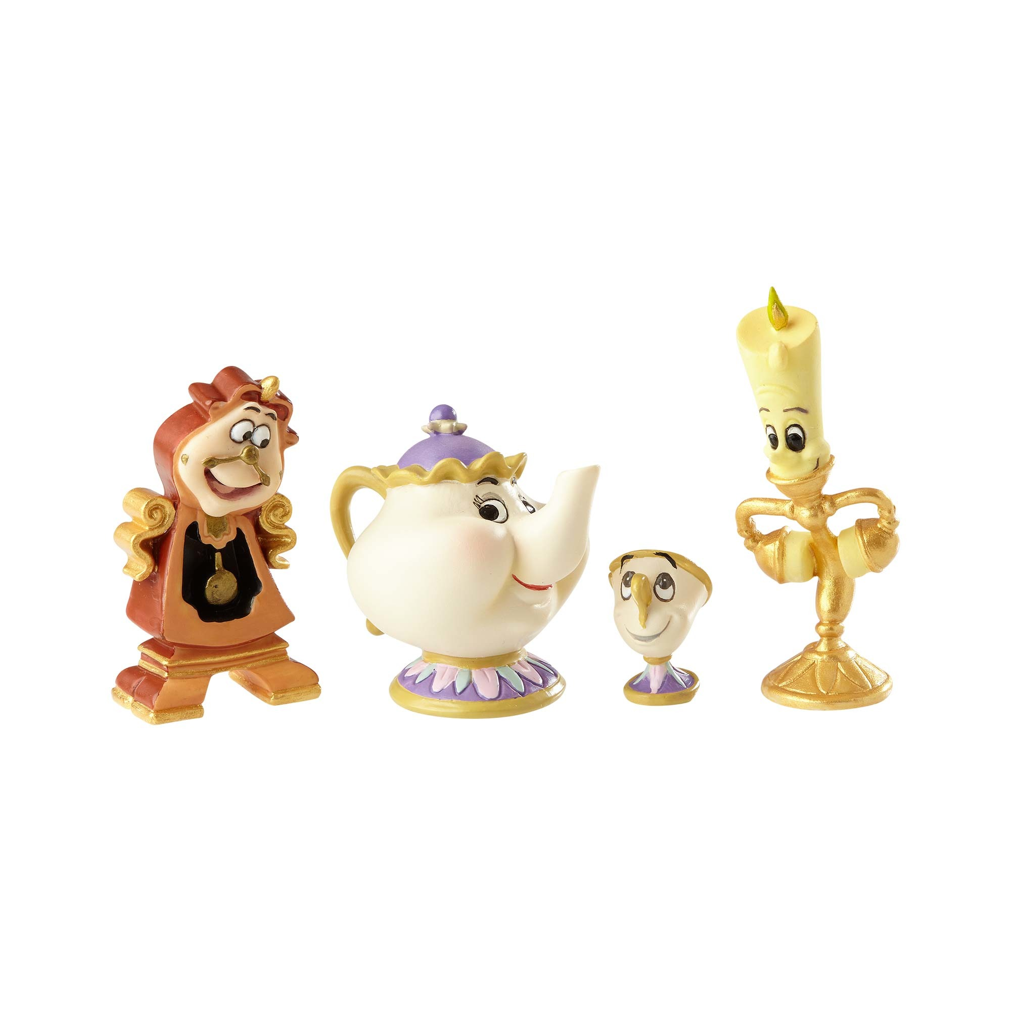 Disney Showcase Beauty & The Beast Enchanted Objects Set