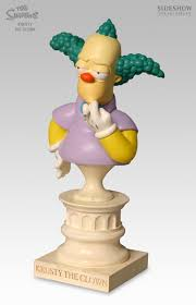 Sideshow Simpsons Krusty the Clown Mini-Bust