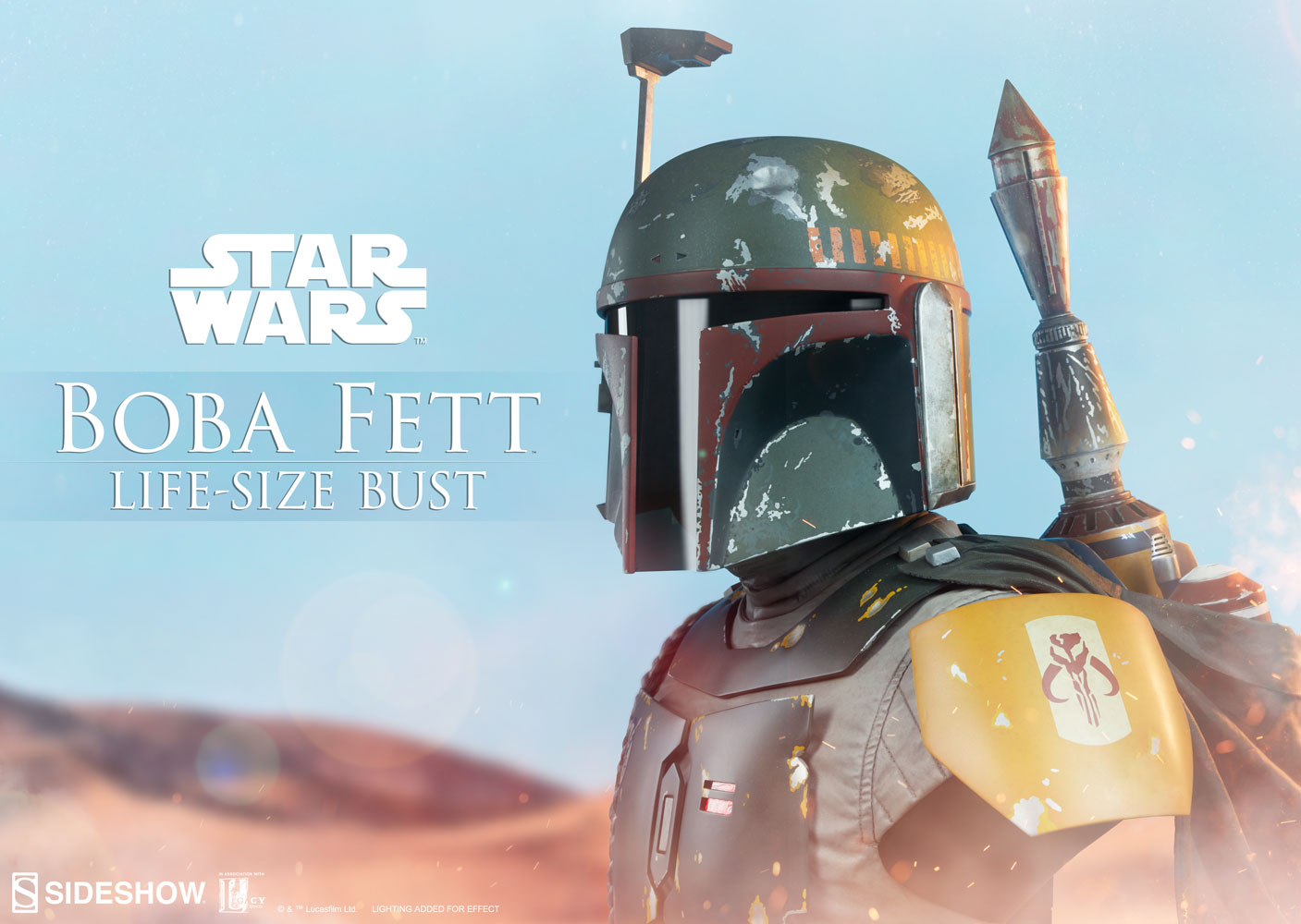 Pre-Order Sideshow Star Wars Boba Fett Life Size Bust