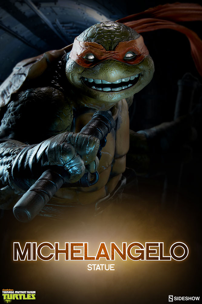 Sideshow Teenage Mutant Ninja Turtles (TMNT) Michelangelo Statue