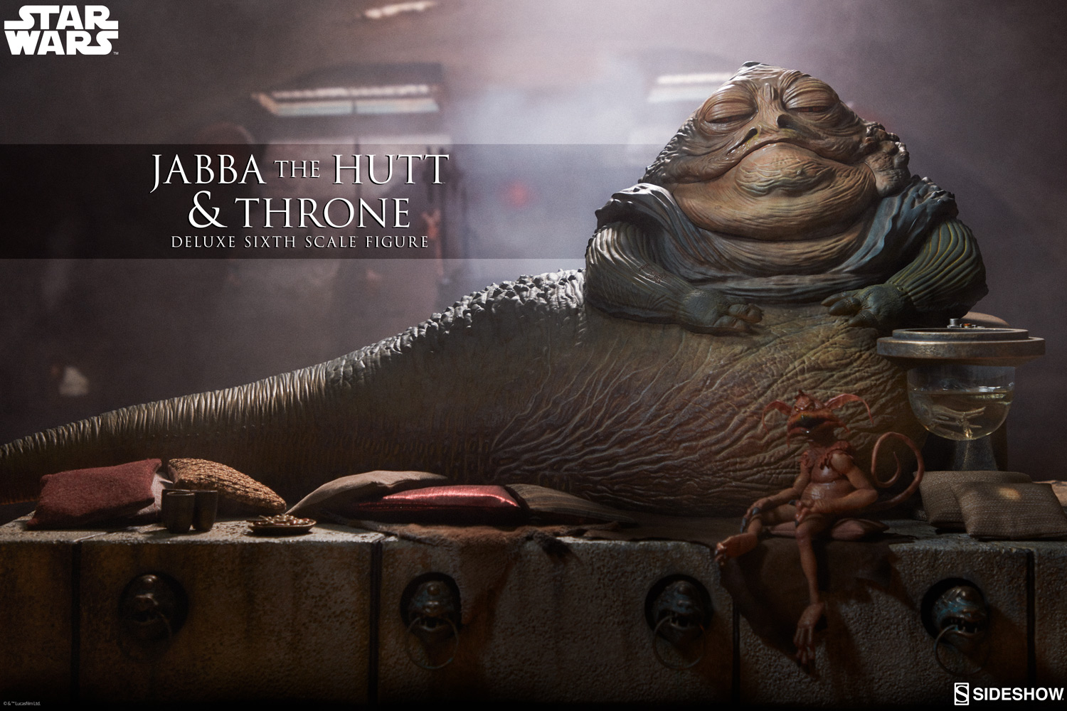 Pre-Order Sideshow Star Wars Jabba the Hutt & Throne Deluxe 1:6