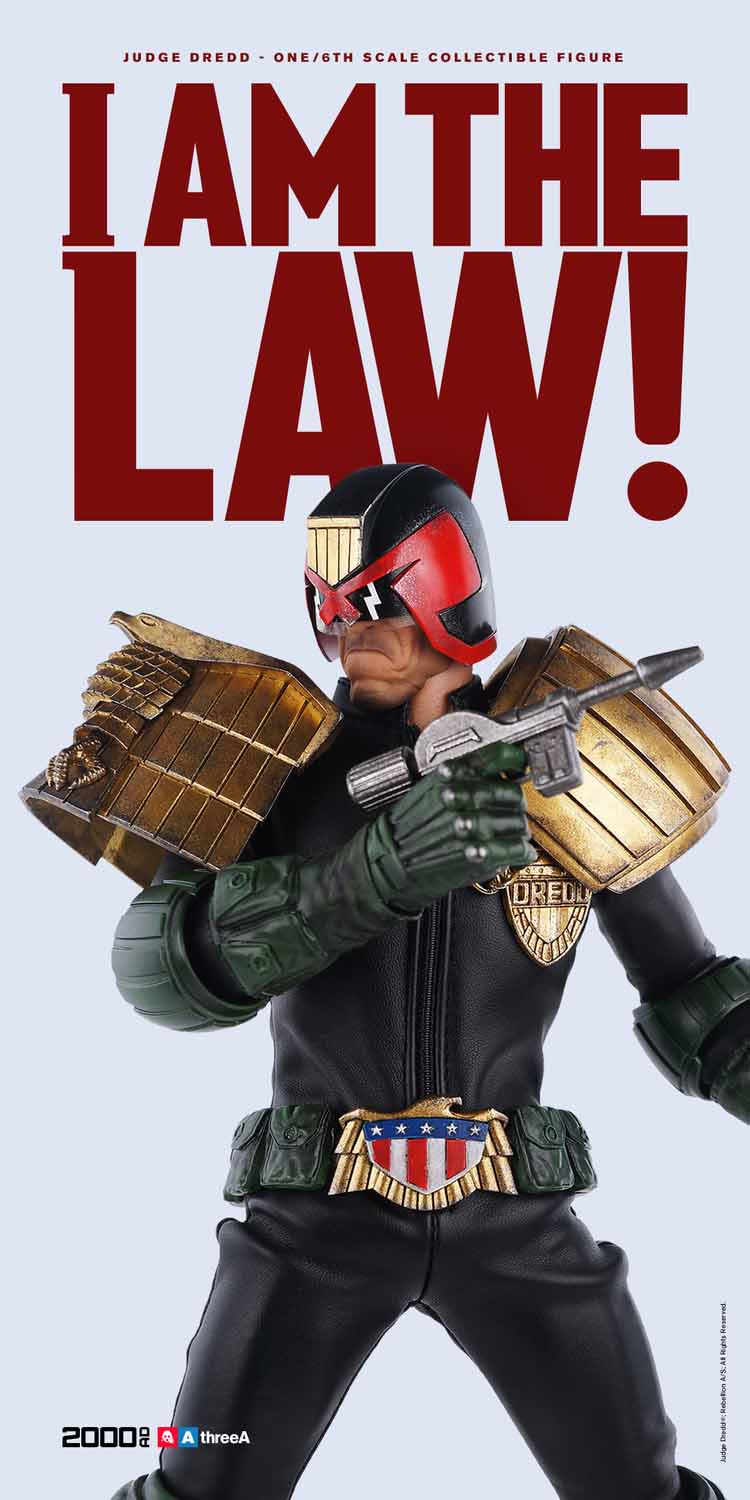ThreeA 2000 AD Judge Dredd Sixth Scale Figure