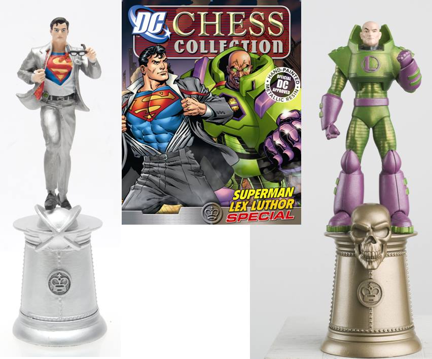 Eaglemoss DC Comics Justice League Chess Superman & Luthor Set
