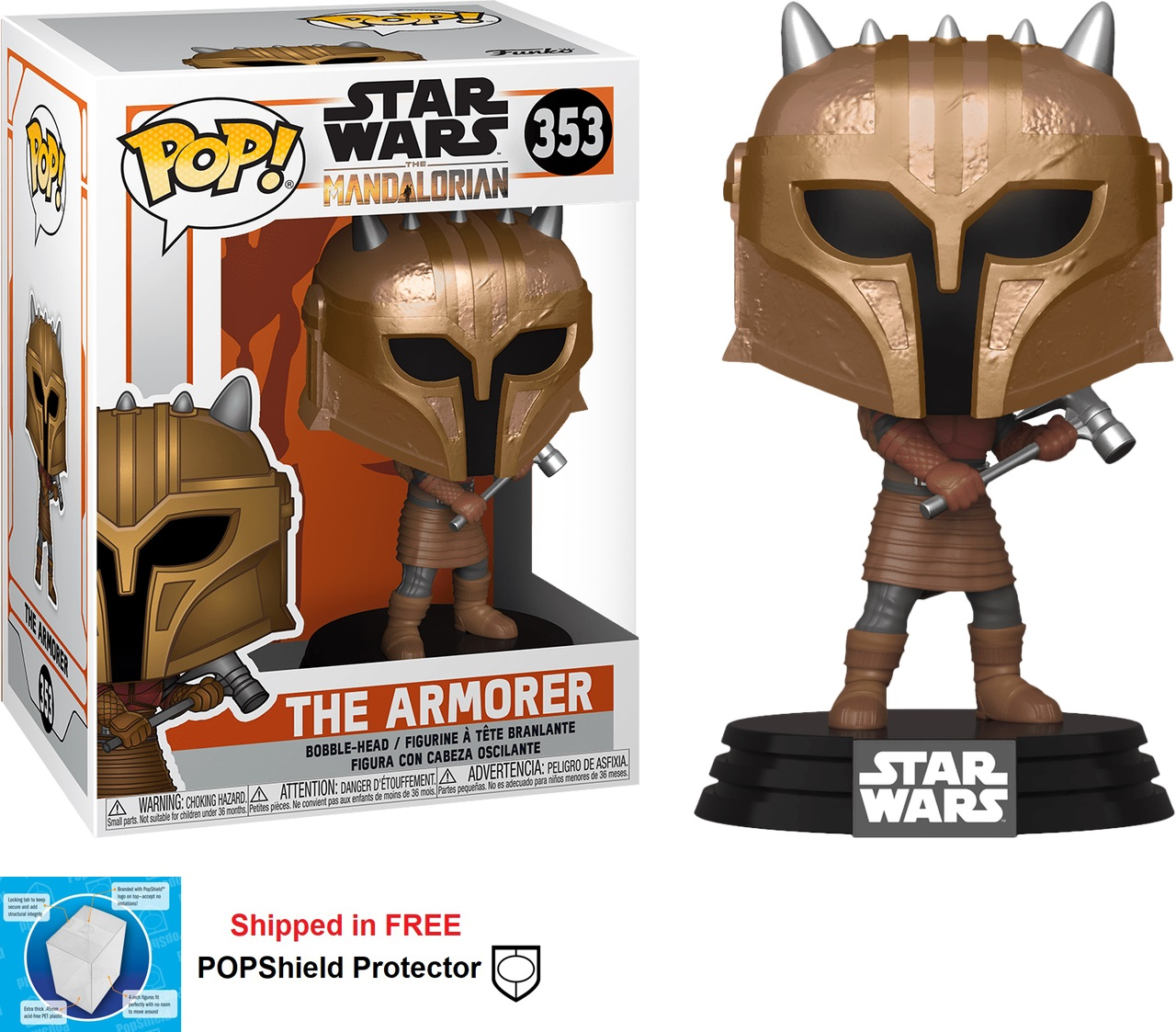 Funko POP Star Wars Mandalorian The Armorer Figure - #353
