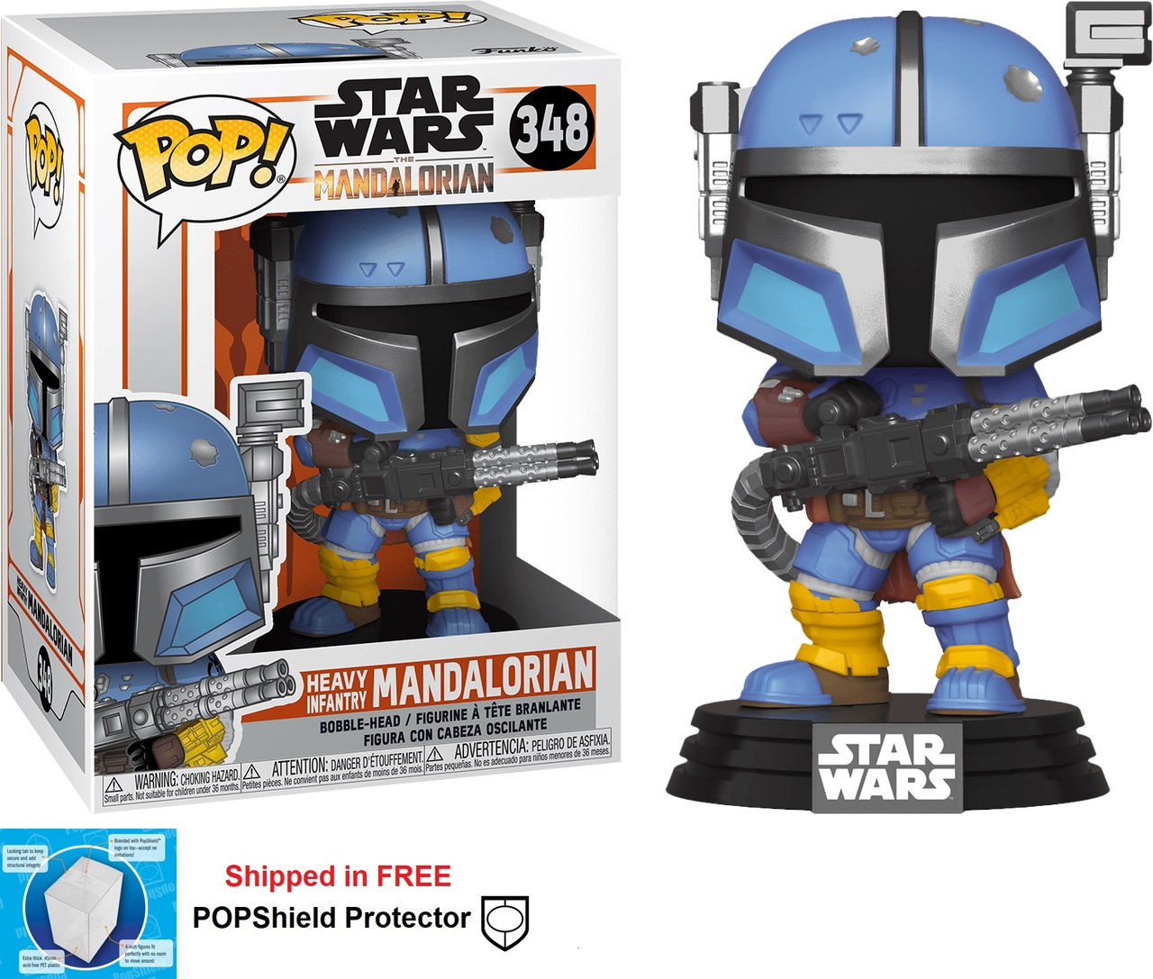 Funko POP Star Wars Mandalorian Heavy Infantry Figure - #348