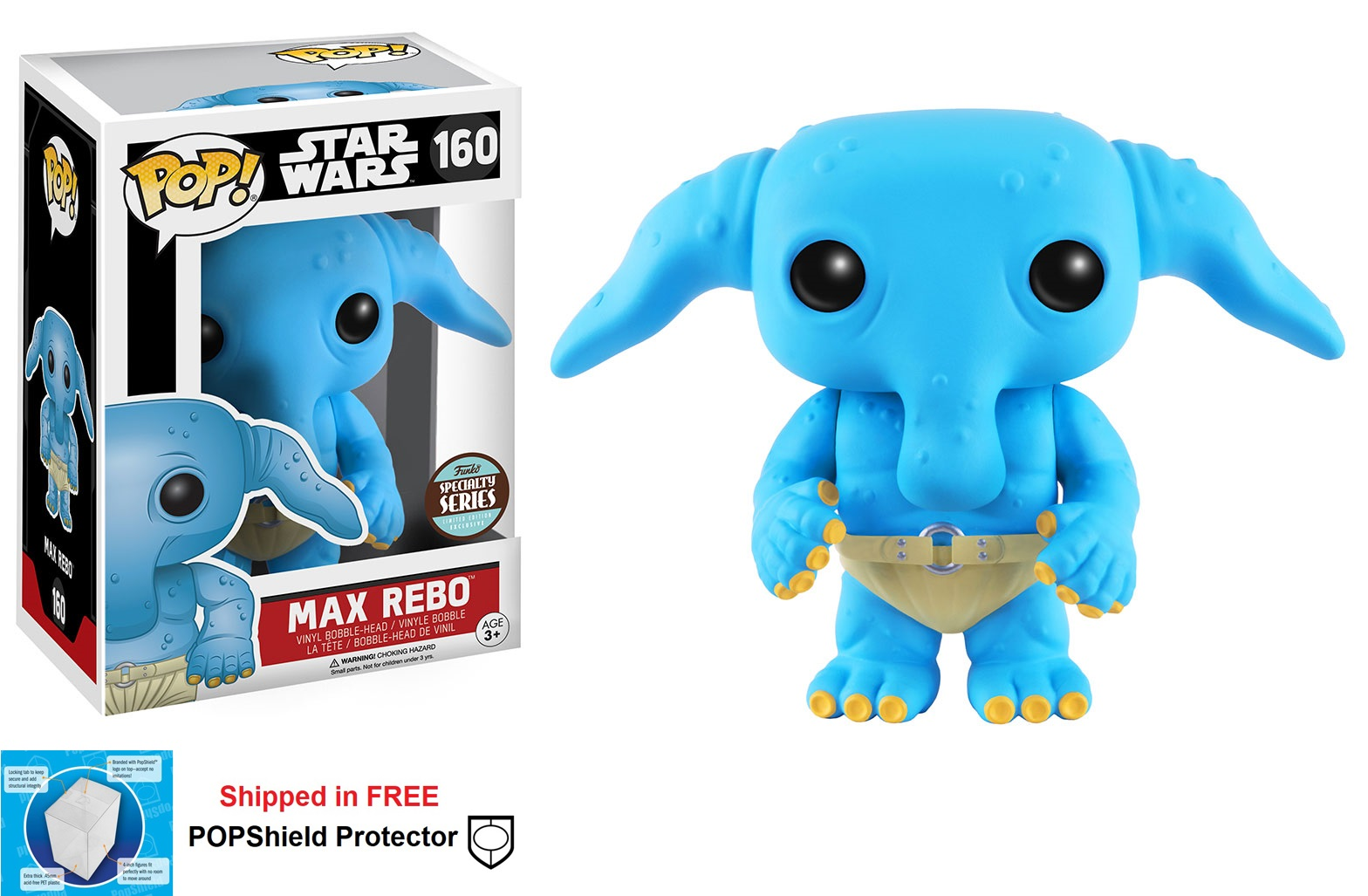 Funko POP Star Wars Max Rebo Figure - #160 Specialty Series