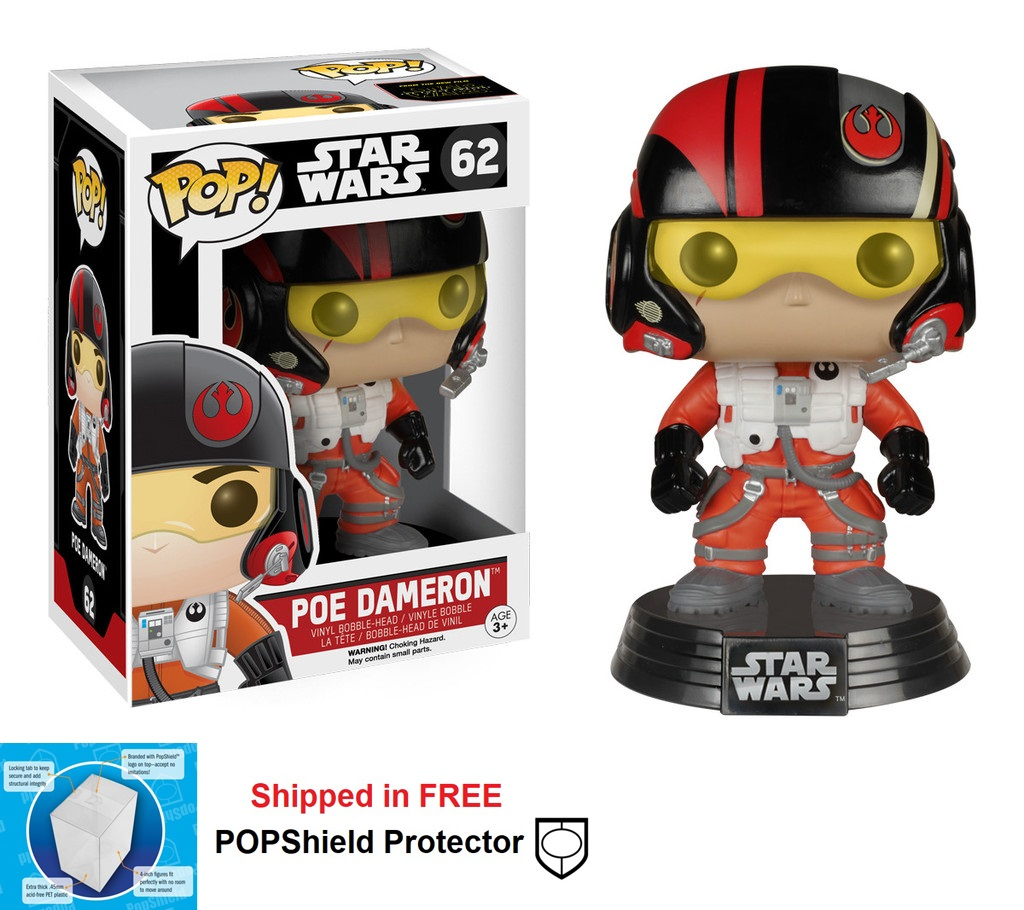 Funko POP Star Wars Poe Dameron Figure - #62
