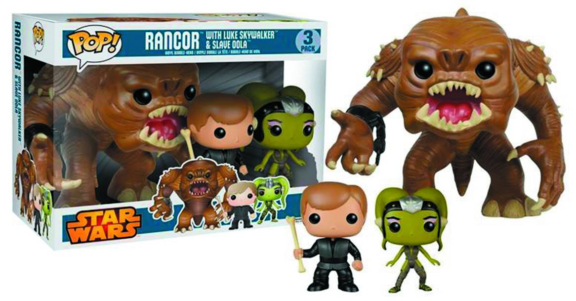 Funko POP Star Wars Rancor w/Luke & Slave Oola 3PK