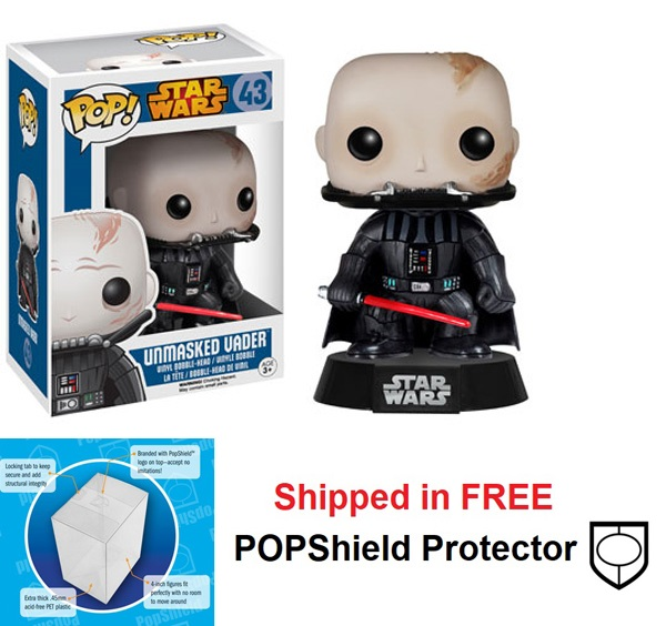Funko POP Star Wars Unmasked Vader Figure - #43