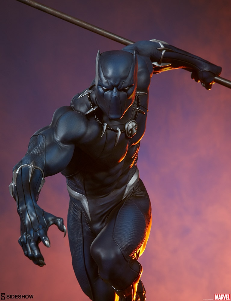 Pre-Order Sideshow Marvel Black Panther Avengers Assemble Statue