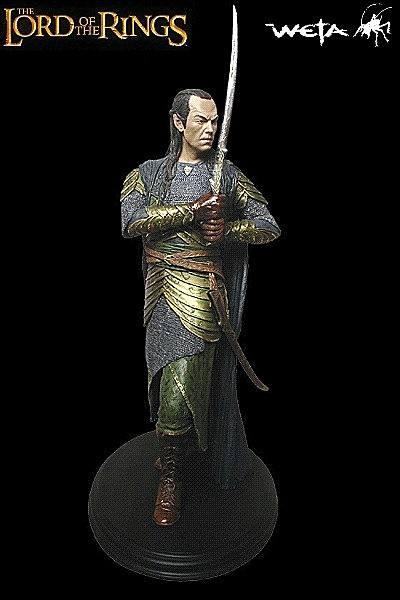 Weta Lord of the Rings Elrond Herald of Gil-galad Statue