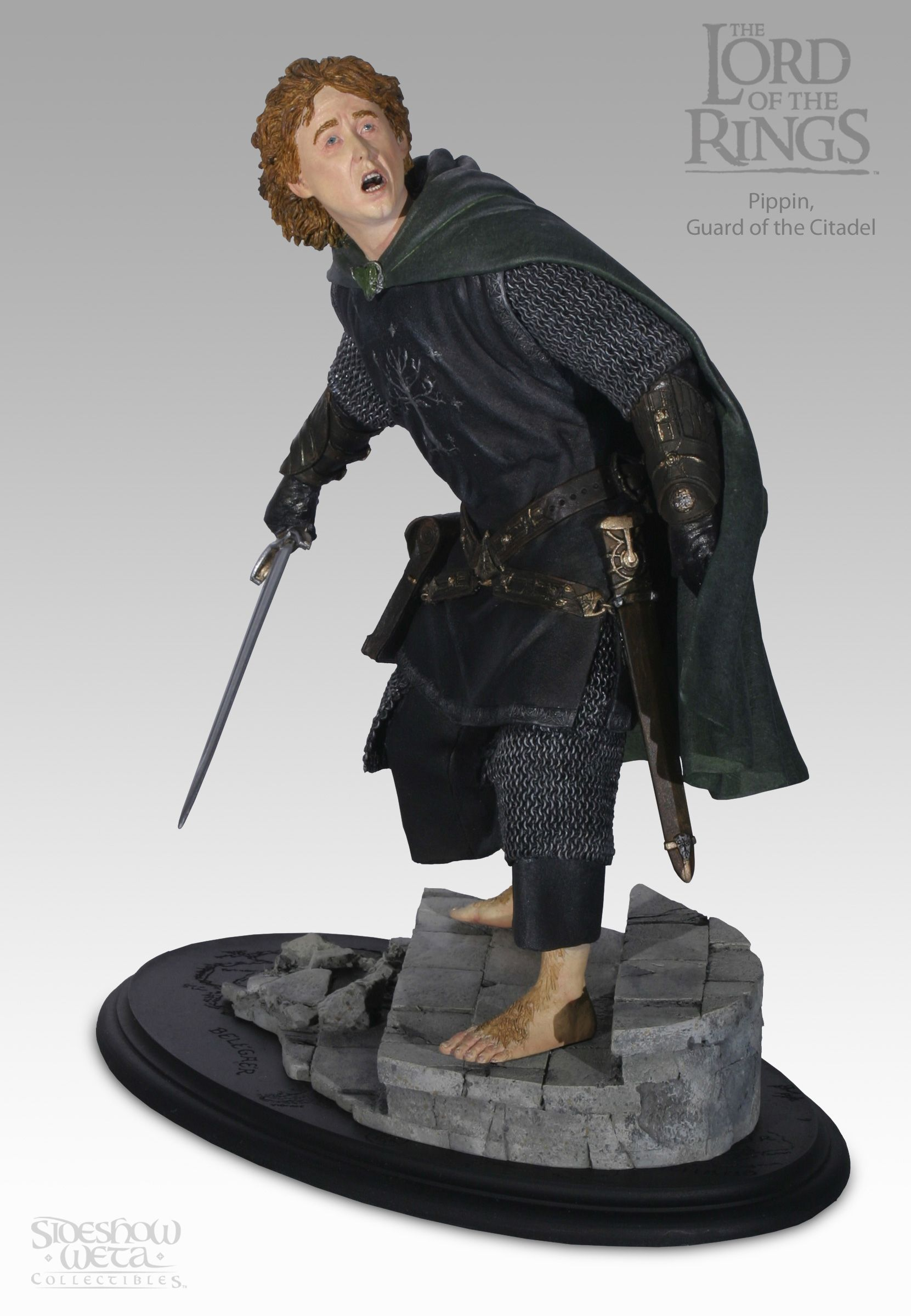 Weta Lord of the Rings Pippin Guard of the Citadel Statue