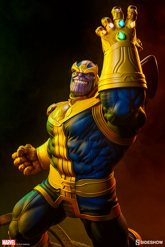 Pre-Order Sideshow Marvel Thanos Classic Avengers Statue
