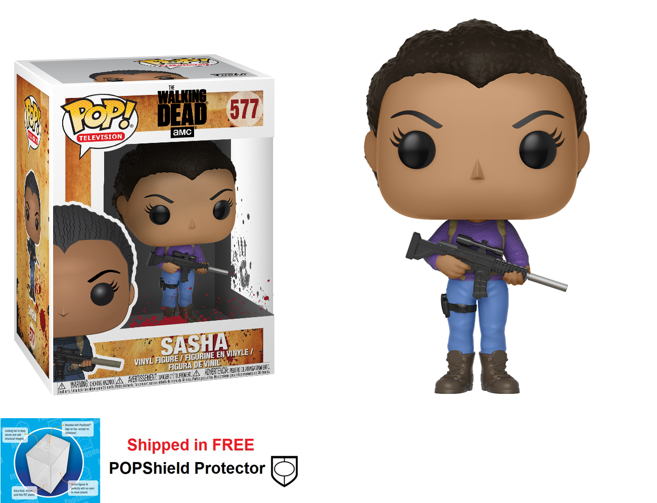 Funko POP Walking Dead Sasha Figure - #577