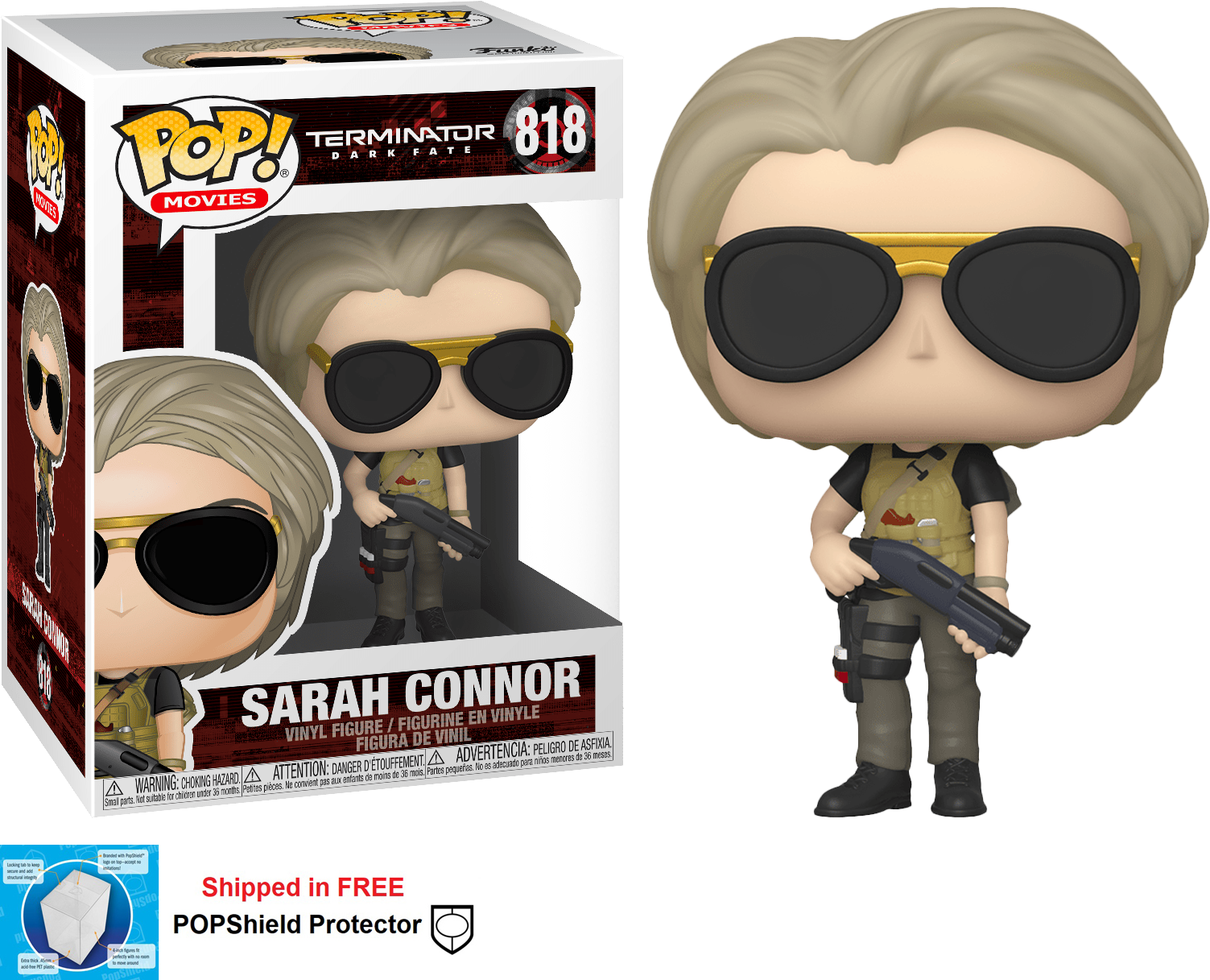 Funko POP Movies Terminator Dark Fate Sarah Connor - #818