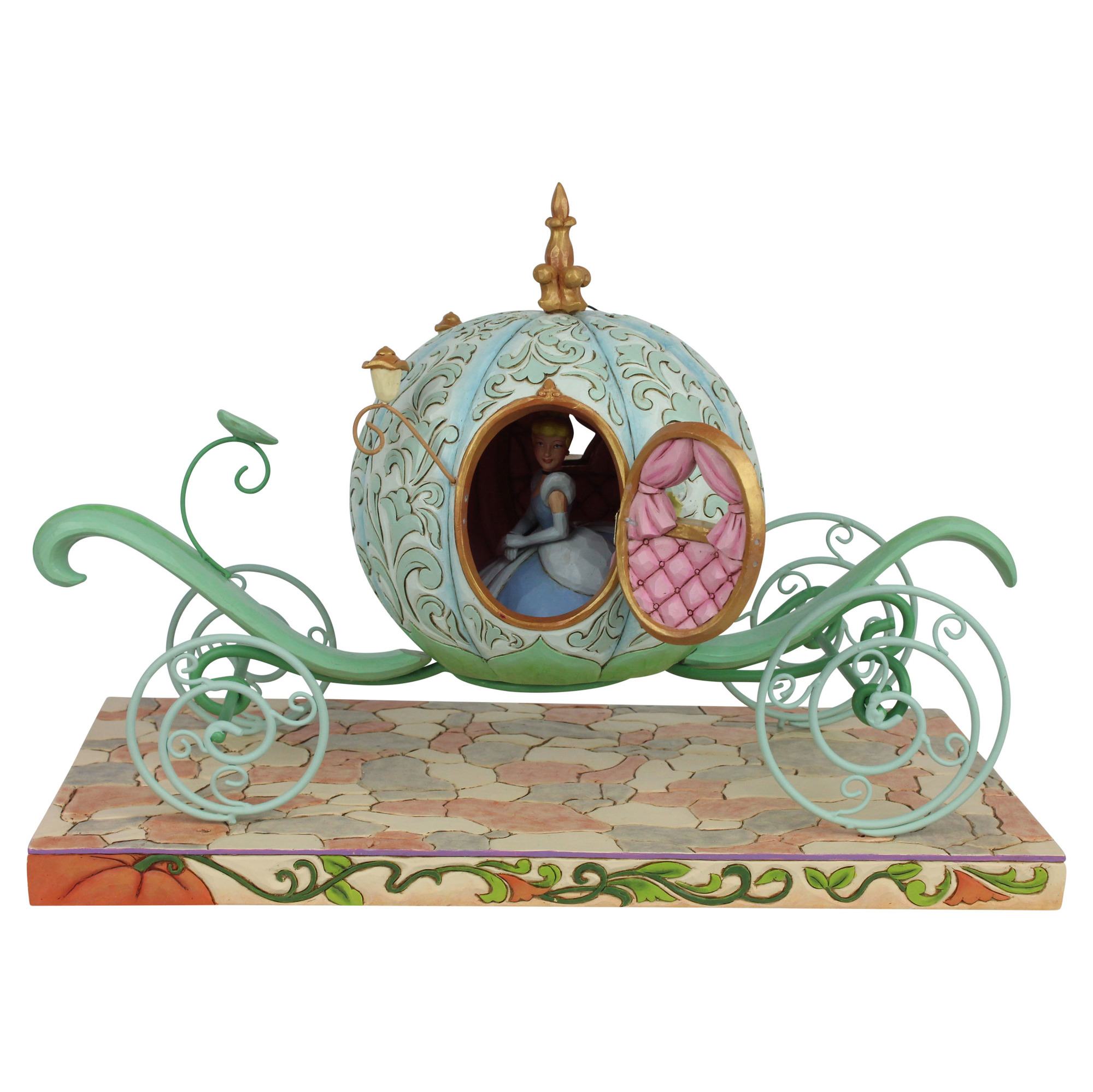 Disney Traditions Cinderella Pumpkin Coach Statue