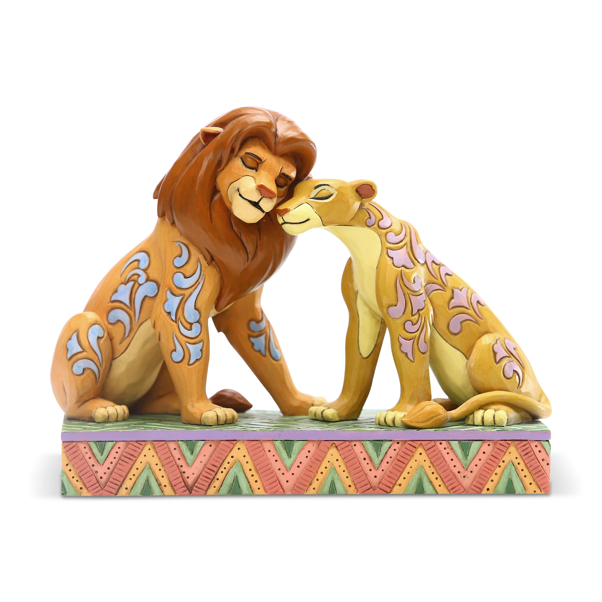 Disney Traditions Lion King Simba & Nala Snuggling Statue