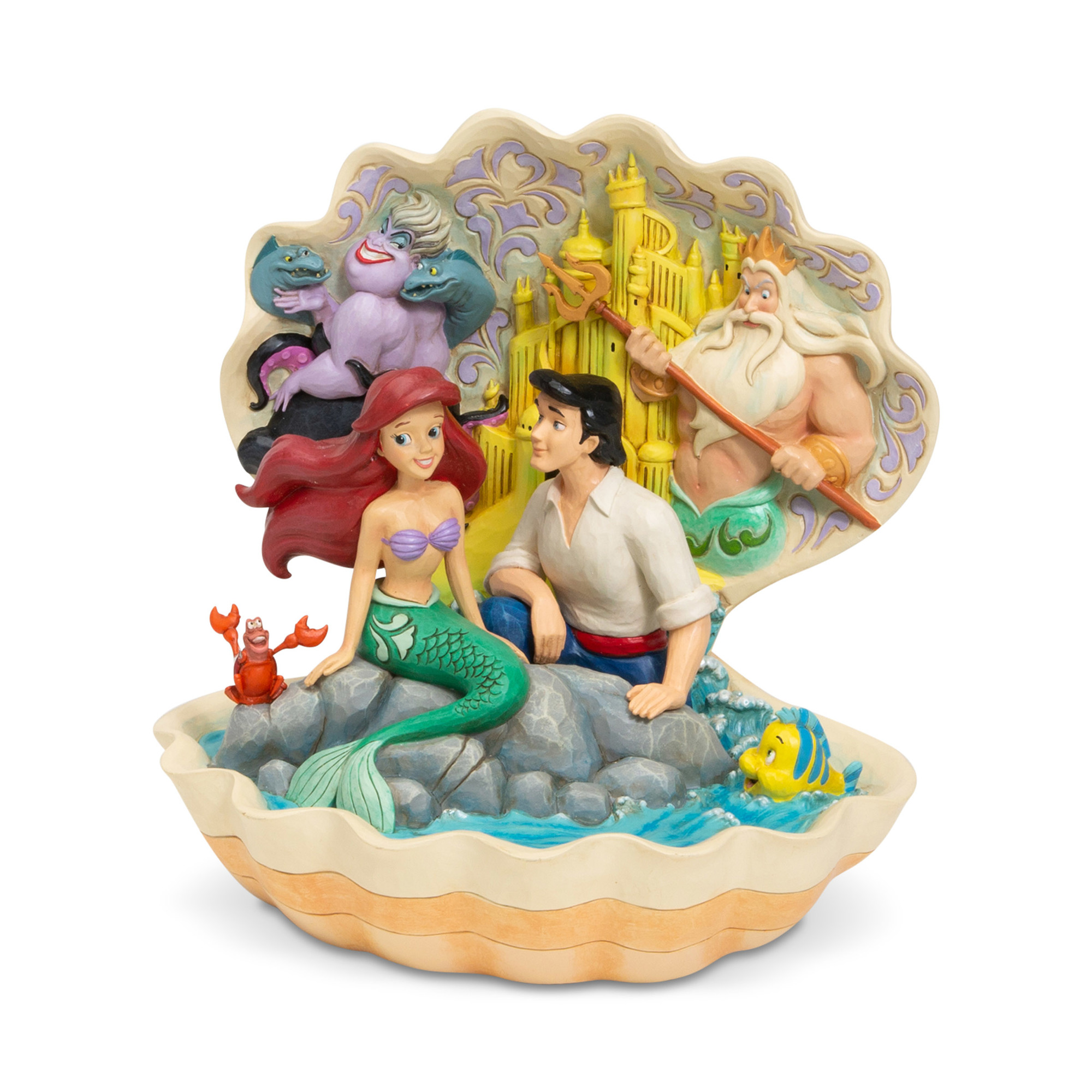 Disney Traditions Little Mermaid Seashell Scenario Statue