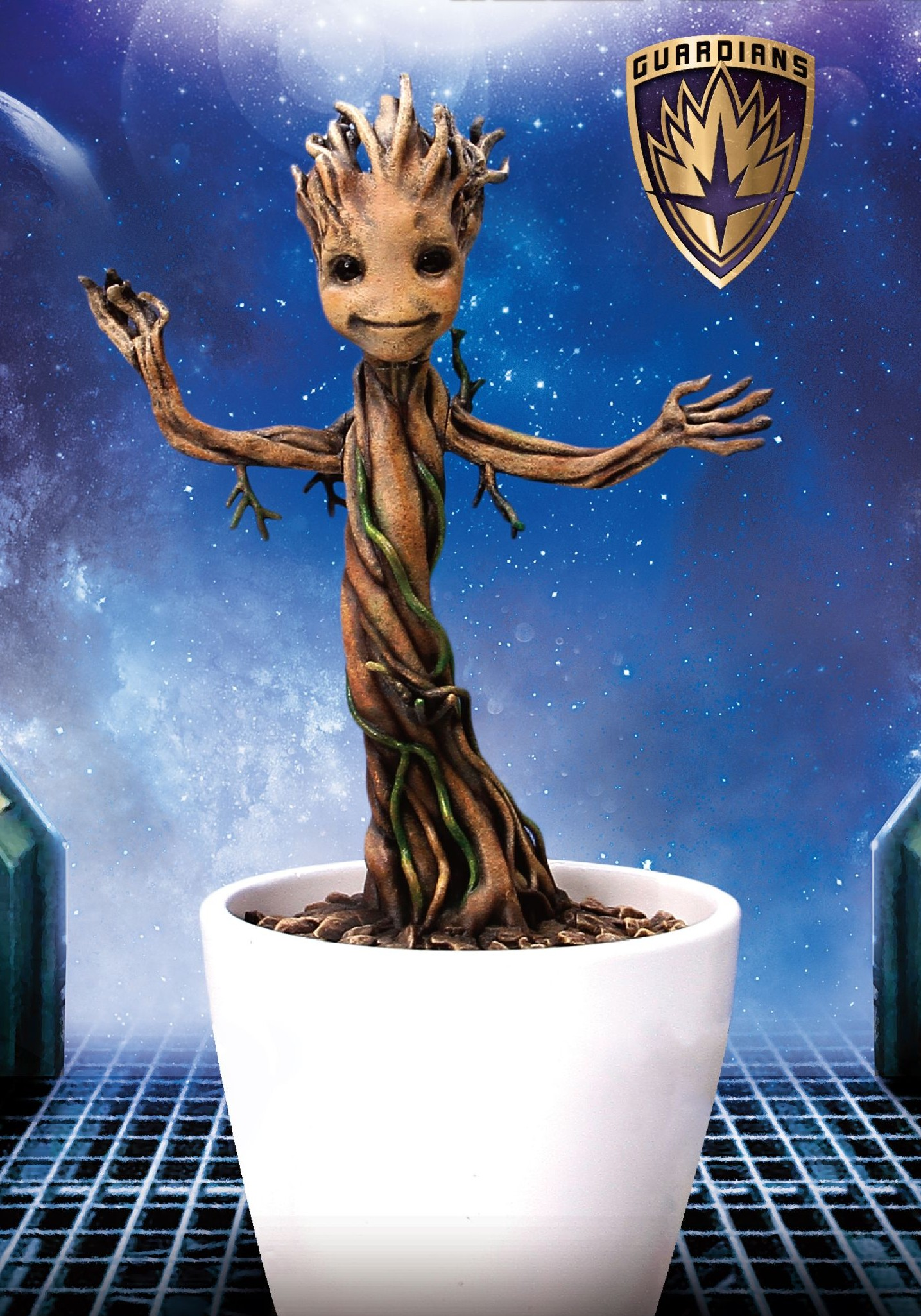 "Dragon Models Marvel GotG Baby Groot 7"" Vignette"