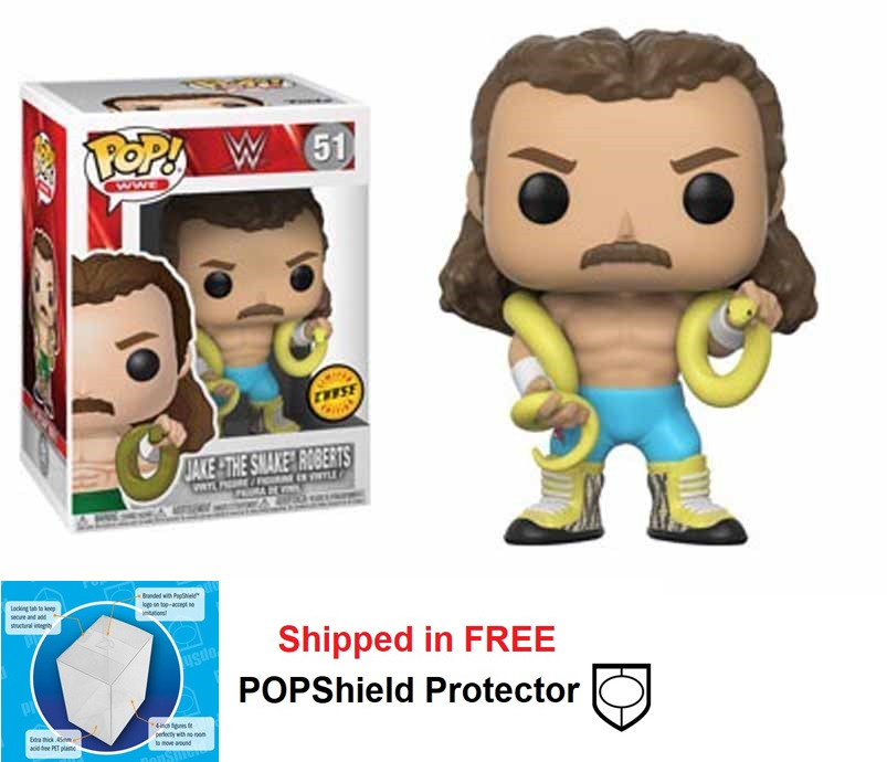 Funko POP WWE Jake The Snake Roberts Figure -#51: Chase Variant