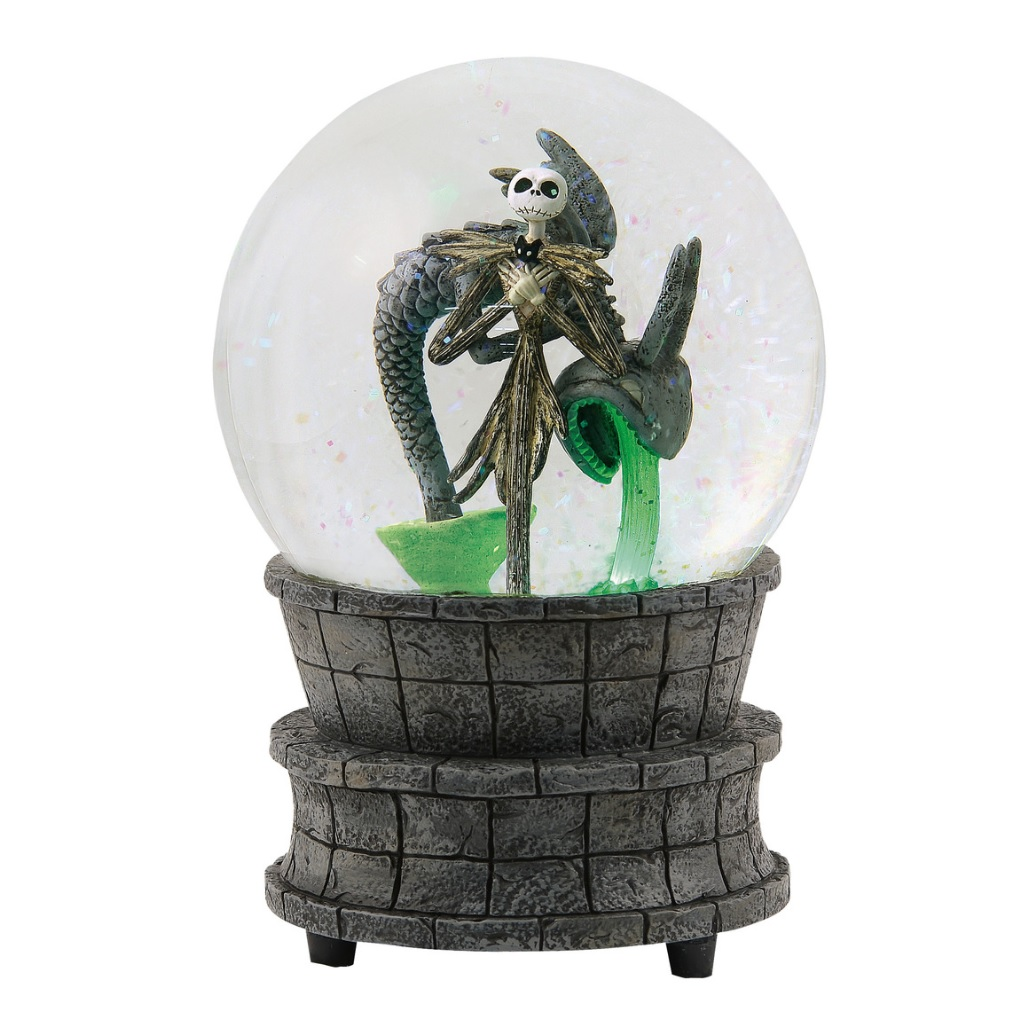 Disney NBX Jack Skellington Fountain Waterglobe