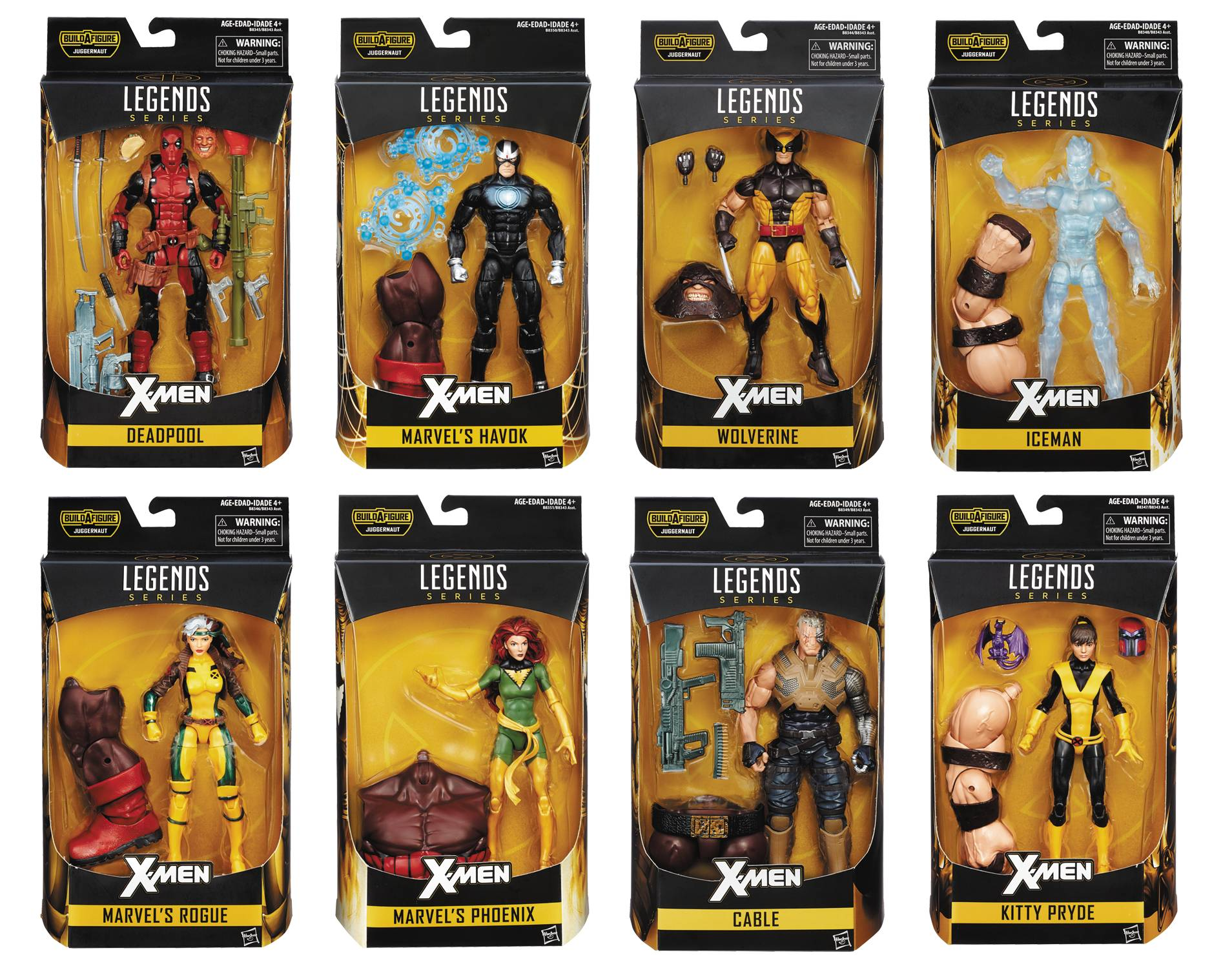 Hasbro X-Men Legends Series 1 - Case of 8 Figures