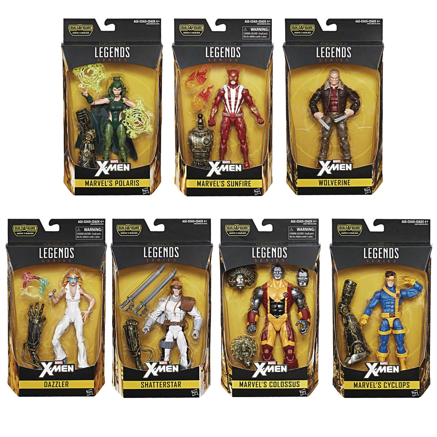 Hasbro X-Men Legends Warlock Series - Set of 7 Figures